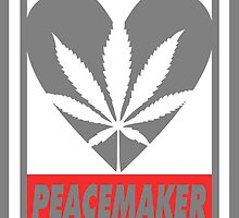 Budding Hearts - Peacemaker, Print Inverted Grey Red by alexcaughtfire
