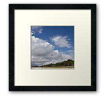 clouds rolling in on Hilton Head beach Framed Print