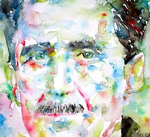 GEORGE ORWELL- watercolor portrait by lautir