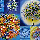 bright happy hippy trees by cathyjacobs