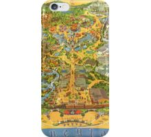 Vintage Early 1970's Disneyland Map iPhone Case/Skin
