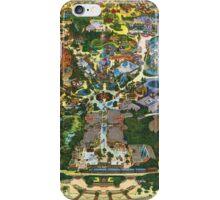 Vintage Millennium Disneyland Map iPhone Case/Skin