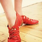 Red Dancing Shoes I by KirstyStewart