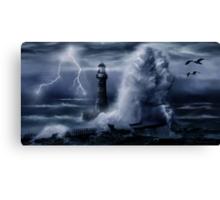 Light House Storm Canvas Print