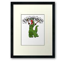Unstoppable T-Rex Framed Print