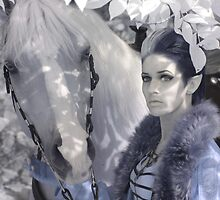 Elf and Horse - Infrared, Ottawa Ontario by Debbie Pinard