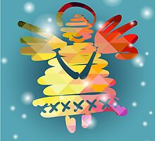Christmas angel and New Year hand-painted decoration by OlgaBerlet