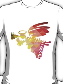 Christmas angel and New Year hand-painted decoration T-Shirt