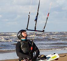 Kite Surfing - 1265 by Jennifer Moon