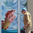 Man and Ice Cream, Westboro Ottawa Ontario by Debbie Pinard