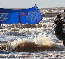 Kite Surfing - 1340 by Jennifer Moon