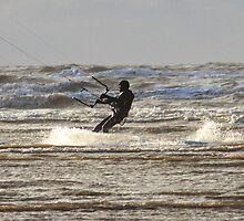 Kite Surfing - 1390 by Jennifer Moon