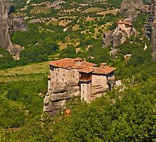 Springtime at the Holy Monastery of Rousanou, Meteora by Konstantinos Arvanitopoulos