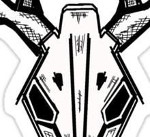 deer scull black Sticker