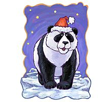 Panda Bear Christmas Photographic Print