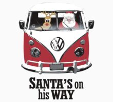 VW Camper Santa Father Christmas On Way Red Kids Clothes