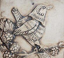 Wren on Bramble by Susan Duffey