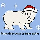 Cabin Pressure Christmas card: Polar Bear by redscharlach