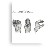 As simple as- ABC (sign language) Canvas Print