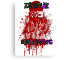 Zombie Reckoning Canvas Print