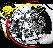 Cigarette Turntable Collage by John Marzetti