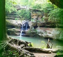 Waterfall at Old Man's Cave by TrendleEllwood