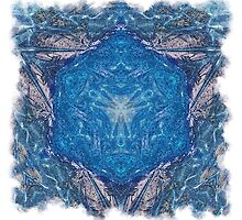 Crystalline Blue 1 - with frame by Richard Maier