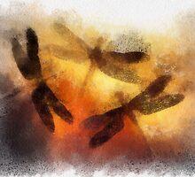 Sunset Dragonflies by NaumaddicArts