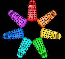 Dalek Rainbow by BlueShift