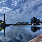 Albert Dock reflections by inkedsandra