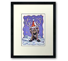 Reindeer Christmas Framed Print