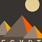 Egypt Travel Poster by JazzberryBlue