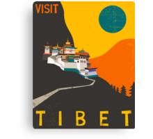 TIBET Travel Poster Canvas Print