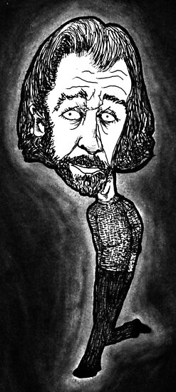 George Carlin by rnrdrawings