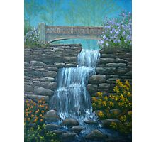 New England Waterfall in Summer Photographic Print