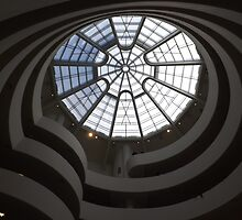 Interior of Guggenheim Museum, Frank Lloyd Wright Architect, New York City by lenspiro