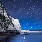 White Cliffs of Dover on a Starry Night by Ian Hufton