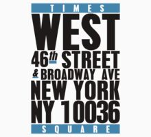Times Square Tee by bgclothing