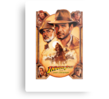 Indiana Jones and The Last Crusade Movie Poster Metal Print