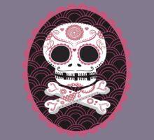 Pink Sugar Skull Vector Kids Clothes