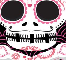 Pink Sugar Skull Vector Sticker