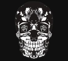 Skull on black by slimmo