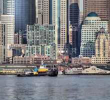 Tug from West Seattle by Sue Morgan
