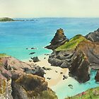 Kynance Cove by Lynne  M Kirby BA(Hons)