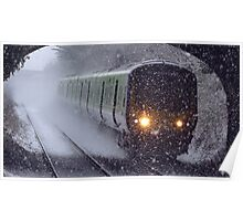 Train in the snow Poster