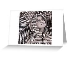 Rain Geometry Greeting Card