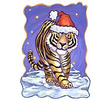 Tiger Christmas Photographic Print