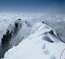 Summit ridge of Antisana, Ecuador by Marion Joncheres