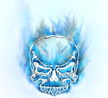 Skull Ice Cold Flames by mycustomdesigns