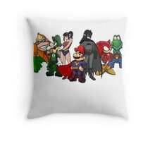 The Justice League of Nintendo Throw Pillow